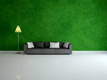 White sofa and lamp Royalty Free Stock Photos