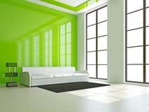 White sofa in the livingroom Stock Image