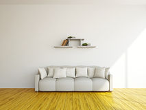 White sofa and  in the livingroom Royalty Free Stock Photos