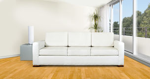 White sofa in livingroom Stock Photo