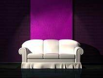 White sofa in minimalist interior Stock Images