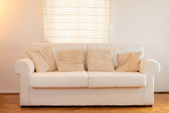 White sofa in a modern home Stock Photo