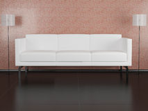 White sofa in the room Stock Photography