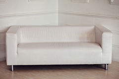 White sofa in room Stock Photography