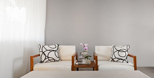 White sofa seat Stock Image
