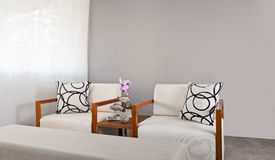 White sofa seat Stock Photography