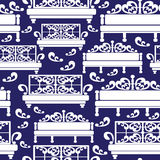 White sofas icons seamless pattern Royalty Free Stock Photography