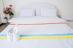 A White soft bed  Stock Image