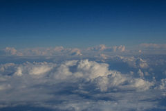 White soft clouds on idyllic blue sky Royalty Free Stock Photography