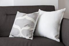 White soft cushion on sofa Stock Photography
