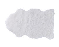 White soft fur carpet isolated Stock Photos