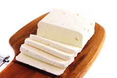 White soft goat cheese Royalty Free Stock Images