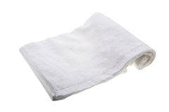 White soft hand towel Royalty Free Stock Photos