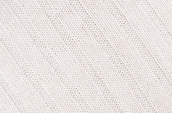 Free White Soft Knitted Fabric Texture With Strips Wale. Stock Images - 95123714