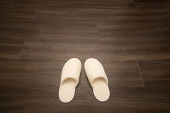 White soft slippers Stock Photography