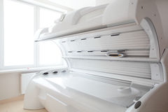 White solarium in white room Royalty Free Stock Photography