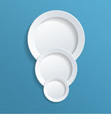 White Solid Circles in Light Blue Background Royalty Free Stock Image