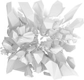 White solid structure bursting 3d Royalty Free Stock Photos