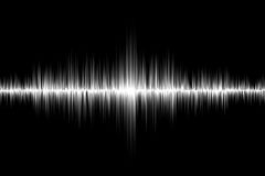 White sound wave background. White sound wave on black background Royalty Free Stock Photos