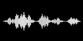 White sound waves. For party on black background. Vector Illustration vector illustration