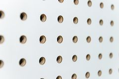 White soundproof wall Stock Image