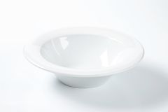 White soup plate Royalty Free Stock Images