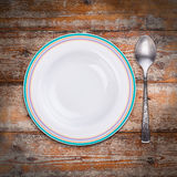 White soup plate Stock Images