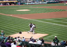White Sox Freddy Garcia warms up before game Royalty Free Stock Photography