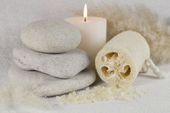 White spa composition Royalty Free Stock Photography