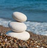 White Spa stones. Royalty Free Stock Image