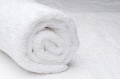 A white spa towel Royalty Free Stock Image