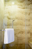 White spa towel Royalty Free Stock Images