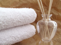 White spa towels Royalty Free Stock Photo