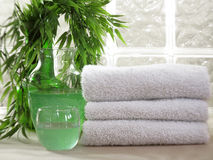 White Spa Towels Stock Image