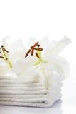 White spa towels Stock Photo