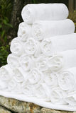 White spa towels Stock Images