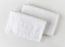 White spa towels Royalty Free Stock Photography