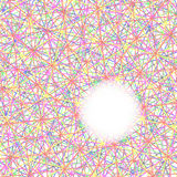 White space circle on colorful line abstract design background. 1 Stock Photography