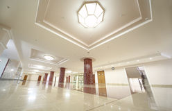 White spacious hall of MSU Royalty Free Stock Photo