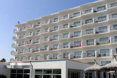 White Spanish hotel building Stock Photo