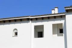 White Spanish house. Exterior of traditional white Spanish house, Majorca, Spain Stock Image