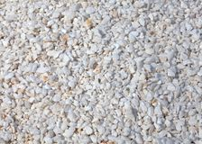 White sparkle attractive stones as beautiful background, decorat. Small white sparkle attractive stones as beautiful background, decoration for garden and yard Stock Photo