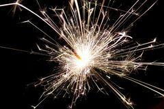 White Sparkler during Night Time Royalty Free Stock Photography