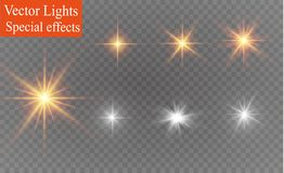 White sparks glitter special light effect. Vector sparkles on transparent background. Christmas abstract pattern royalty free illustration