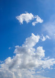 White sparse clouds and blue sky Royalty Free Stock Photography