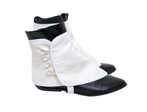 White spats over boots Royalty Free Stock Photography