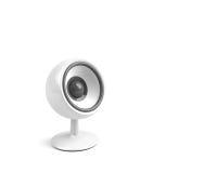 White speaker on pedestal Stock Images