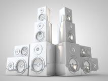 White Speaker Render Stock Photo
