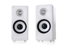 White speakers Royalty Free Stock Photo