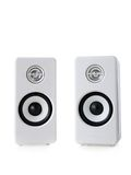 White speakers Stock Image